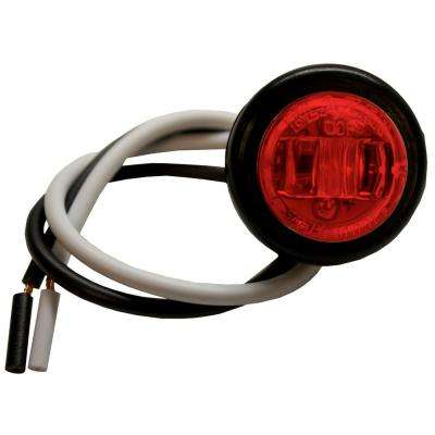 LED 3/4 in. Round Clearance/Side Marker Light, Red