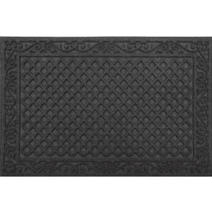 TrafficMASTER Black Lattice 24 in. x 36 in. Door Mat