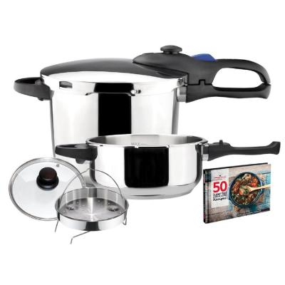 Favorit 4.2 + 6.3 Qt. Stainless Steel Pressure Cooker Set