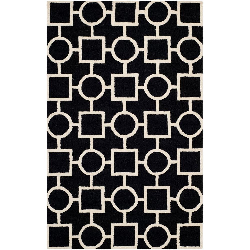 Safavieh Cambridge Black/Ivory 6 ft. x 9 ft. Area Rug