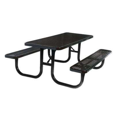 6 ft. Diamond Black Commercial Park Rectangular Portable Table