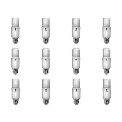 60W Equivalent Soft White A19 General Purpose LED Bright Stik Light Bulb (12-Pack)