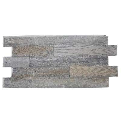 Faux Barnwood Panel 1-1/4 in. x 52-1/4 in. x 23 in. Weathered Barn Polyurethane Interlocking Panel