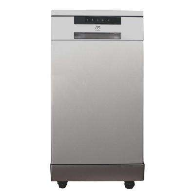 18 in. Portable Dishwasher in Stainless Steel with 8 Place Settings Capacity