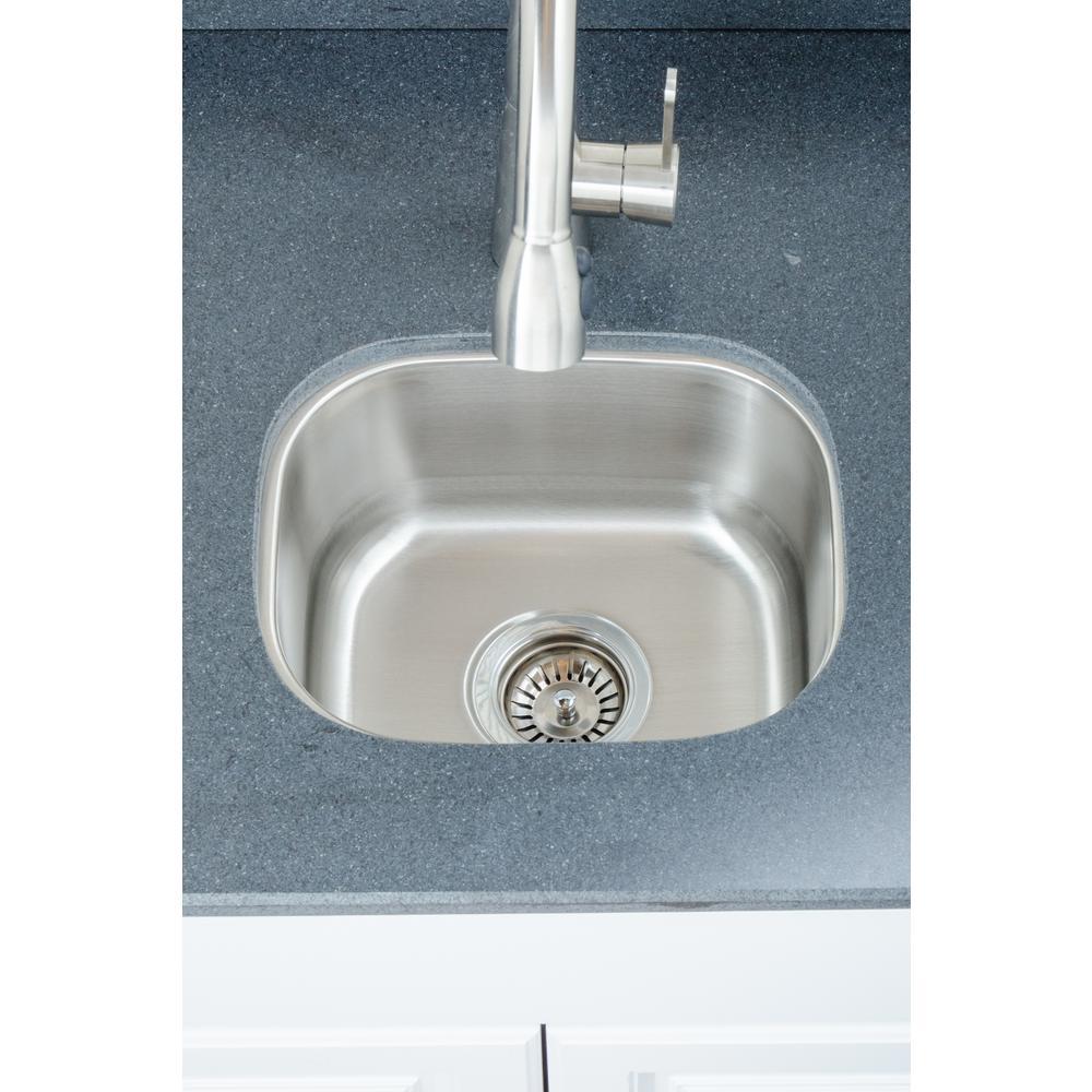 Wells The Craftsmen Series Undermount  Stainless Steel 15 in. Single Bowl Kitchen Sink