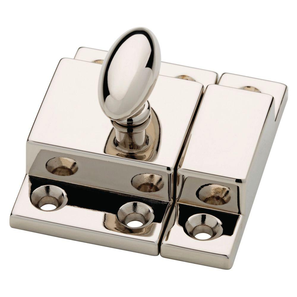 Martha Stewart Living 2 in. Polished Nickel Matchbox Door Latch