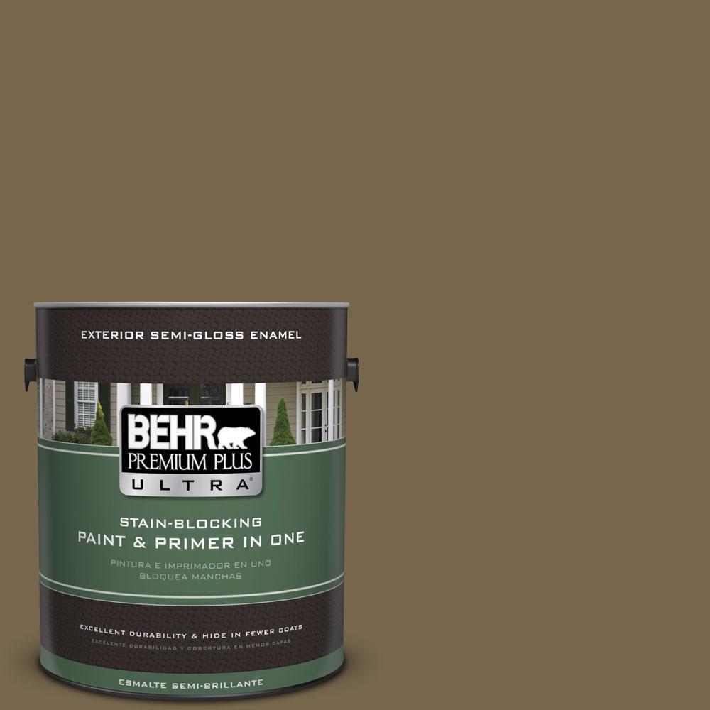 BEHR Premium Plus Ultra 1-gal. #T14-6 Boho Semi-Gloss Enamel Exterior Paint