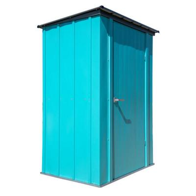 Spacemaker 4.5 ft. x 3 ft. Teal Galvanized Steel Patio Shed