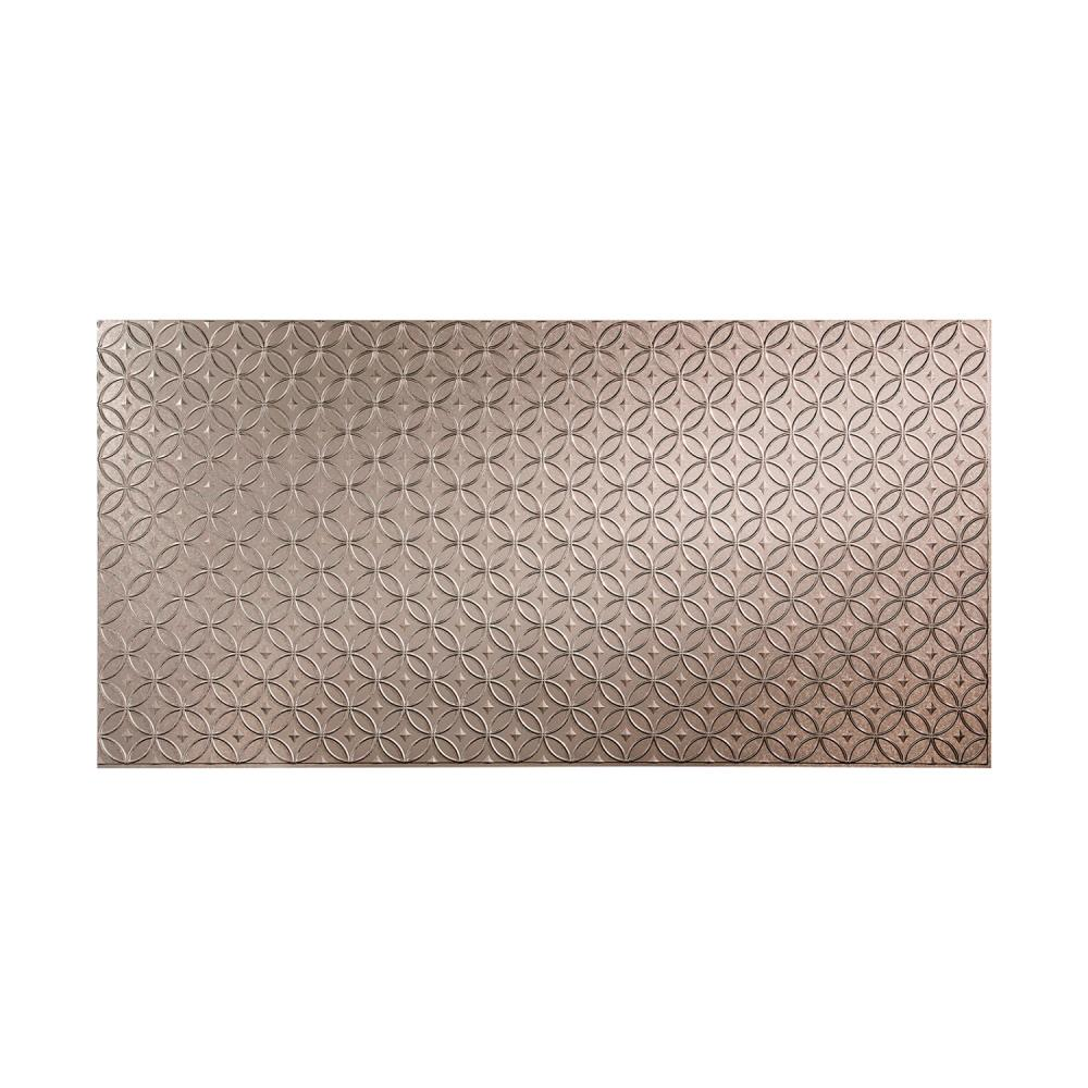 Fasade Rings 96 in. x 48 in. Decorative Wall Panel in Gal...