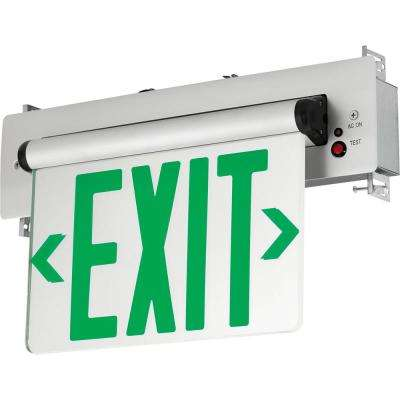 120-Volt Brushed Aluminum Integrated LED Exit Sign