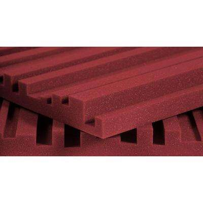 Auralex Studiofoam Metro - 2 ft. W x 4 ft. L x 2 in. H - Burgundy (12 Panels Per Box)