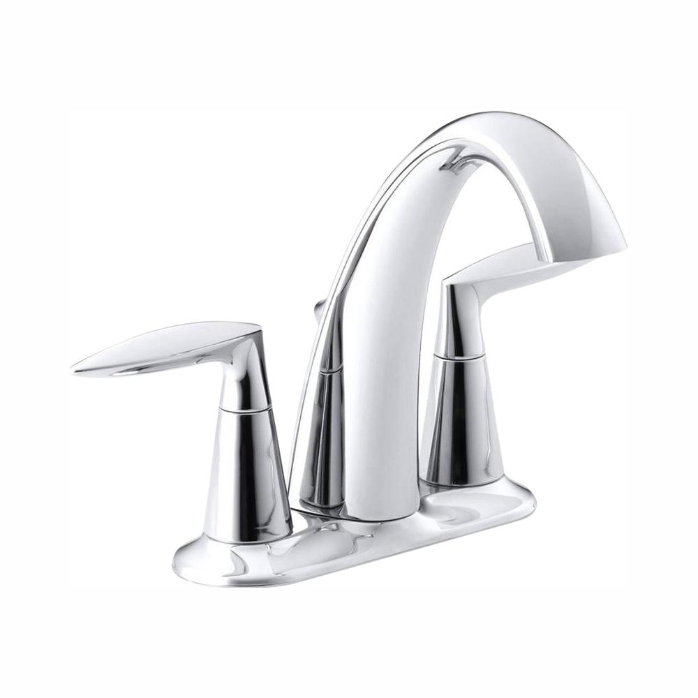 KOHLER Alteo 4 in. Centerset 2-Handle Bathroom Faucet in Polished Chrome