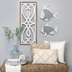 Heart And Fleur Wood Panel Wall Decor