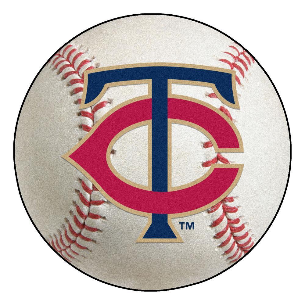 MLB Minnesota Twins Photorealistic 27 in. Round Baseball Mat