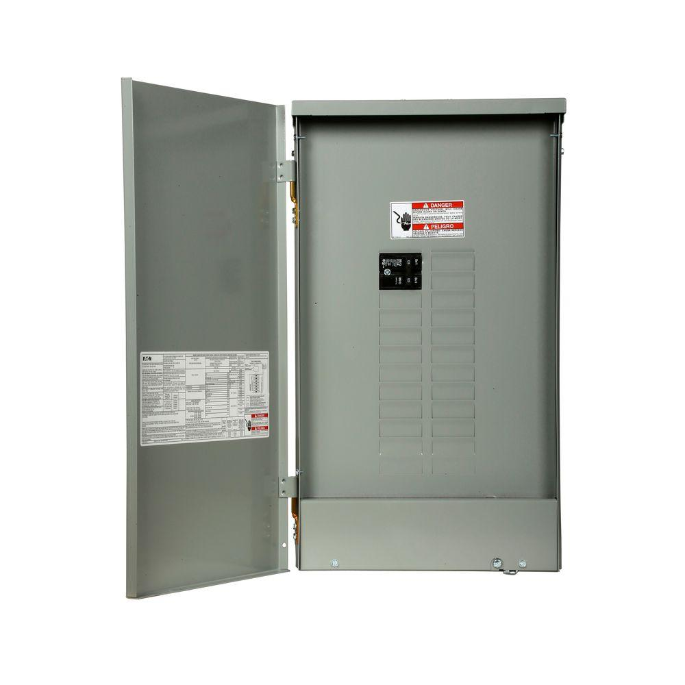Eaton Br 125 Amp 20 Space 24 Circuit Outdoor Main Breaker Loadcenter With Cover Br2024b125r The Home Depot