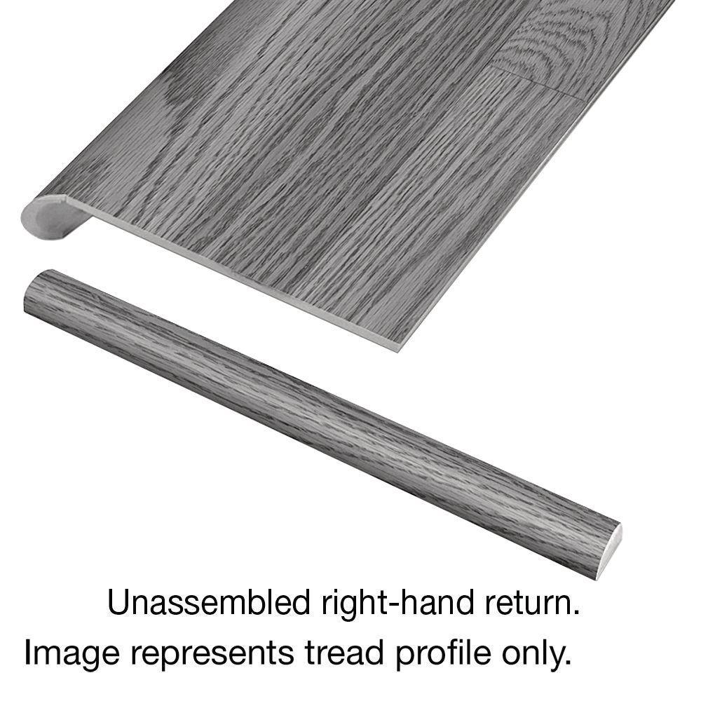Cap A Tread Grey Wood Tile 47 In. Long X 12 1/8