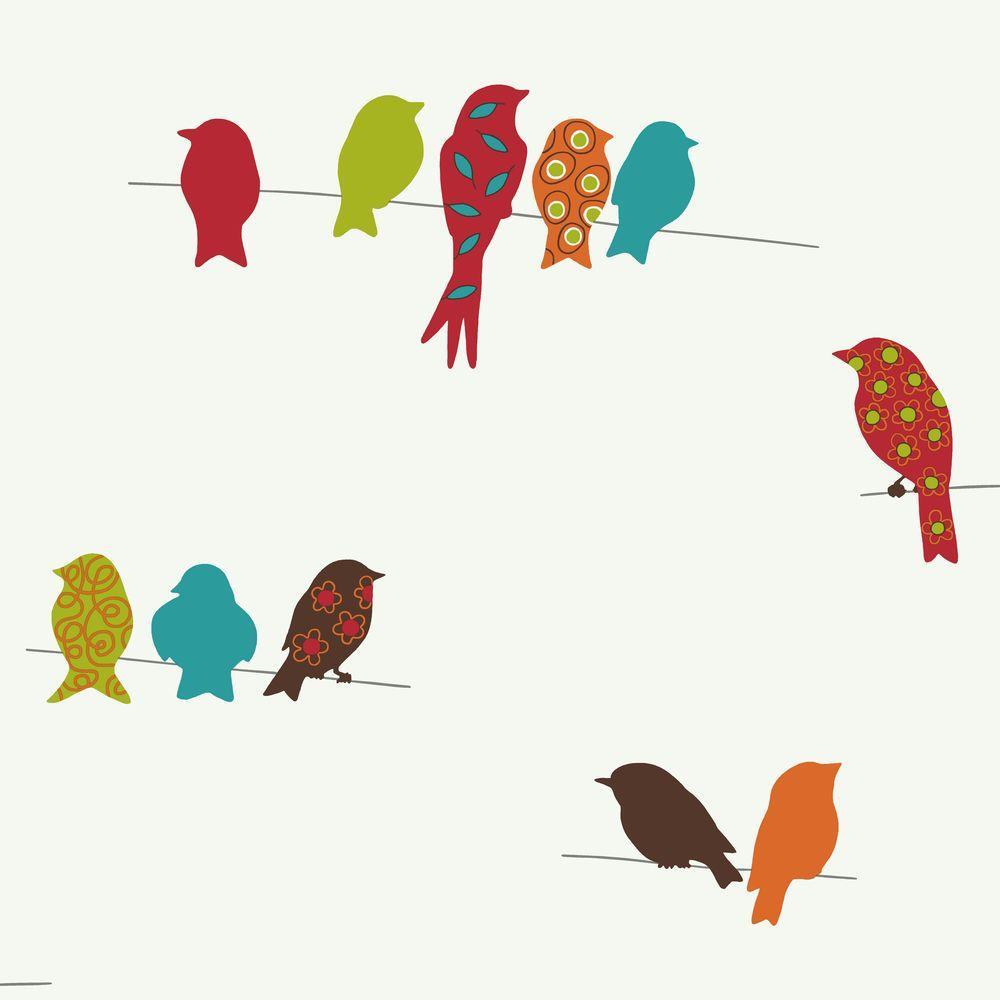 York Wallcoverings Bird On A Wire Wallpaper