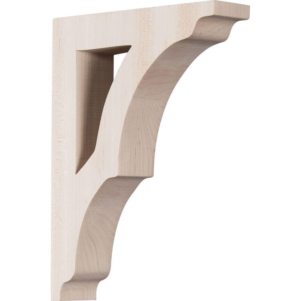 1-3/4 in. x 9 in. x 6-1/2 in. Rubberwood Small Avila Bracket