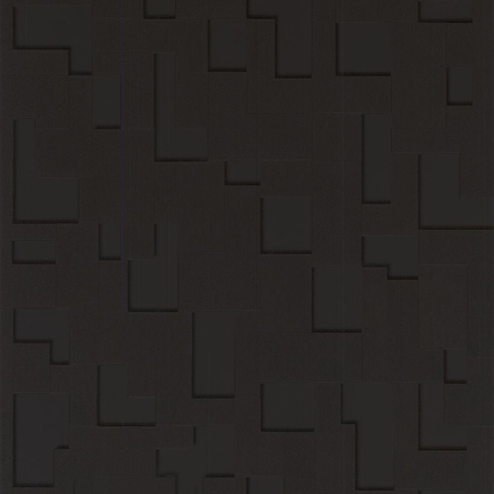 Graham & Brown 56 sq. ft. Checker Black Wallpaper