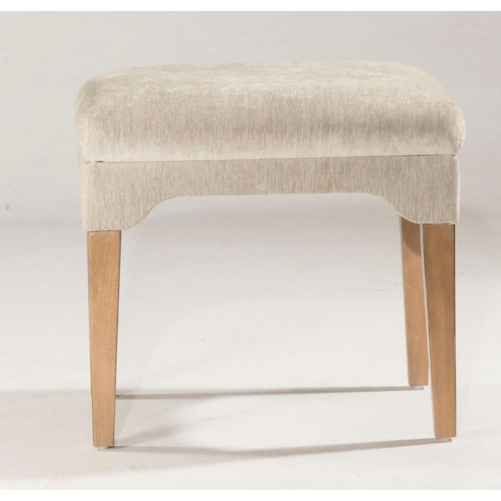 Cady Dark Weathered Gray Driftwood Vanity Stool