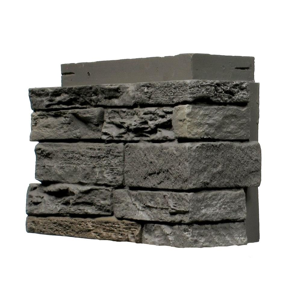 NextStone Slatestone Rundle Ridge 4.5 in. x 12.75 in. Faux Stone Siding Corner (4-Pack)