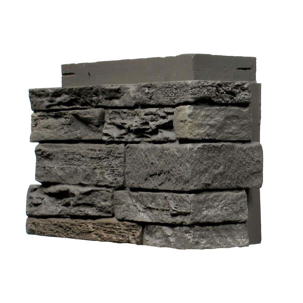 Slatestone Rundle Ridge 4.5 in. x 12.75 in. Faux Stone Siding Corner (4-Pack)