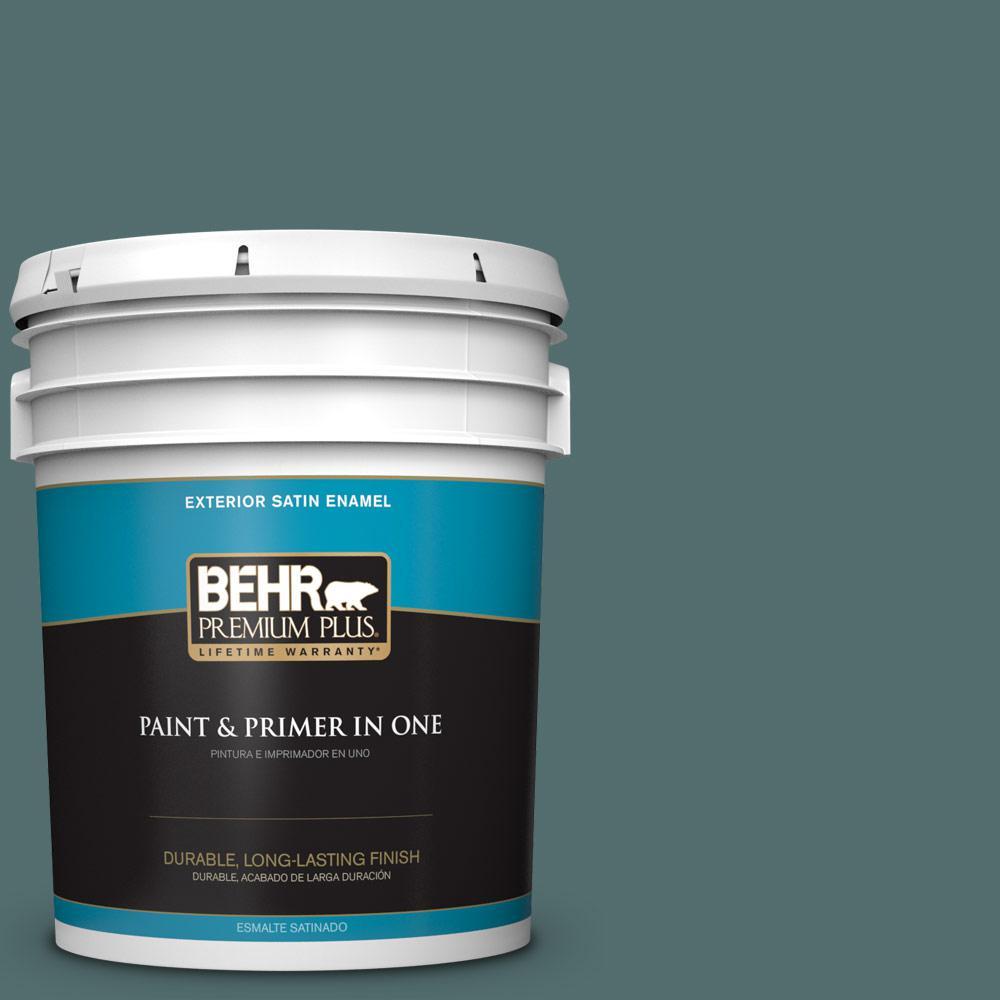 5 gal. #PPU12-02 Sequoia Lake Satin Enamel Exterior Paint