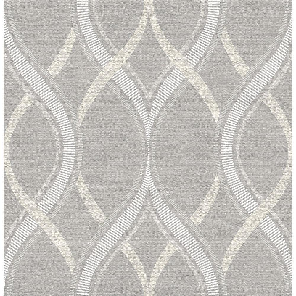 Frequency Grey Ogee Wallpaper Sample