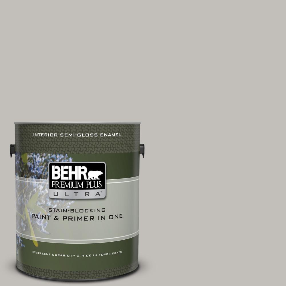 High Quality BEHR Premium Plus Ultra 1 Gal. #UL260 11 Natural Gray Semi Gloss
