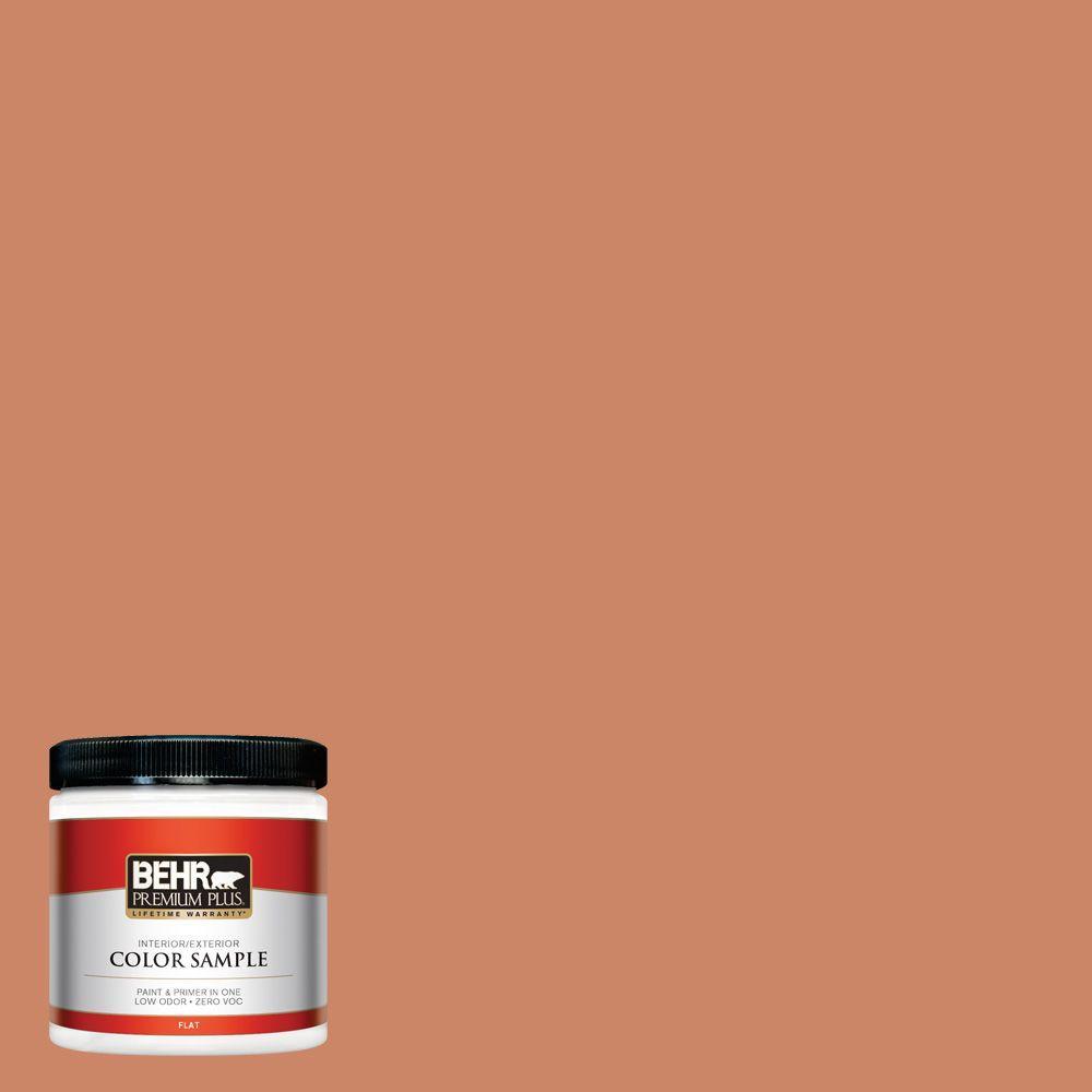 BEHR Premium Plus 8 oz. #230D-5 Aztec Brick Interior/Exterior Paint Sample