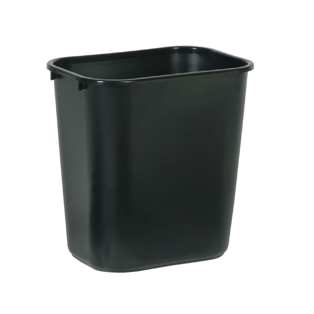 Rubbermaid Commercial Products 7 Gal Black Rectangular