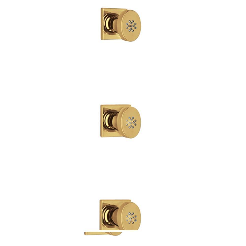 LaToscana Lady 3-Piece Body Jets in Satin Gold