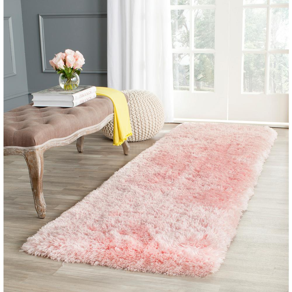 Arctic Shag Pink 2 ft. 3 in. x 8 ft. Runner