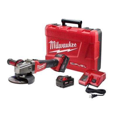 M18 FUEL 18-Volt Lithium-Ion Brushless Cordless 4-1/2 in./5 in. Grinder, Slide Switch Lock-On Kit