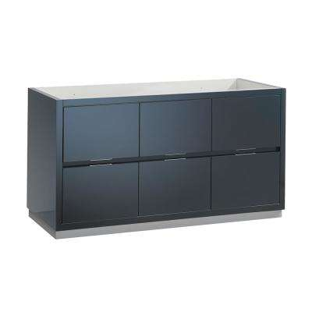 Valencia 60 in. W Bathroom Vanity Cabinet in Dark Slate Gray