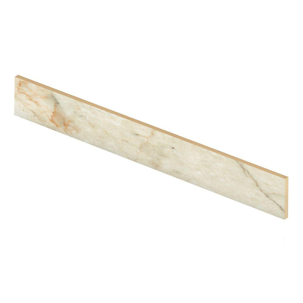 Carrara White 47 in. Long x 1/2 in. Deep x 7-3/8 in. Heig...