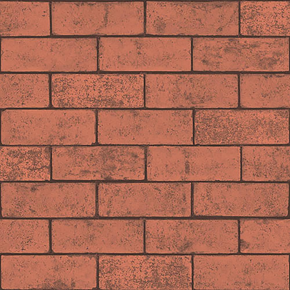 Crown 56.4 sq. ft. Kirsten Red Industrial Brick Wallpaper