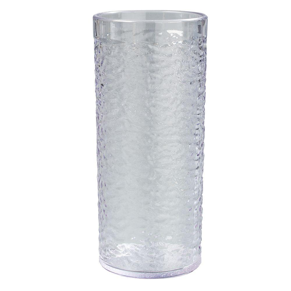 20 oz. SAN Plastic Pebble Optic Tumbler in Clear (Case of