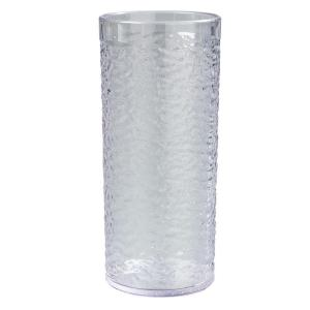 Carlisle 20 oz. SAN Plastic Pebble Optic Tumbler in Clear (Case of 24) by Carlisle