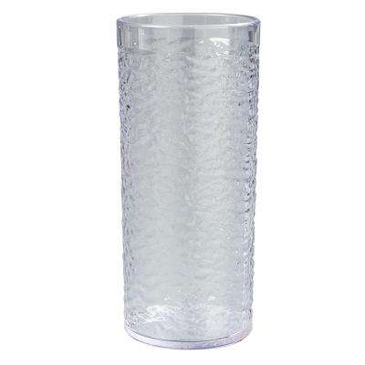 20 oz. SAN Plastic Pebble Optic Tumbler in Clear (Case of 24)