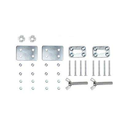 Removable Hardware Kit for Deluxe Chrome Motorcycle Wheel Chock