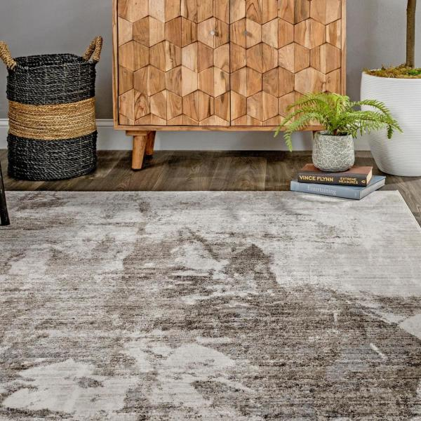 Nuloom Rivera Abstract Light Brown 7 Ft X 9 Ft Area Rug Mela06c 6709 The Home Depot