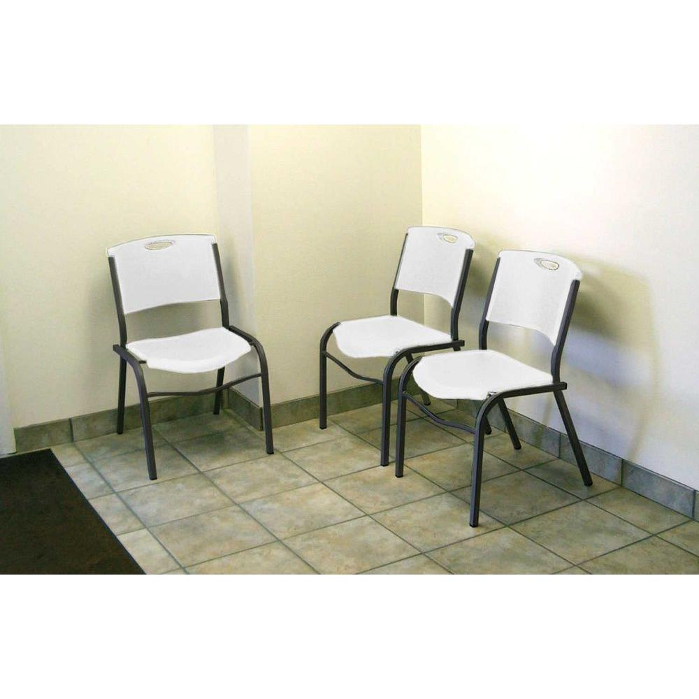 Lifetime Grey Metal Stacking Side Chair (Set of 14)