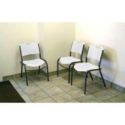 Grey Metal Stacking Side Chair (Set of 14)