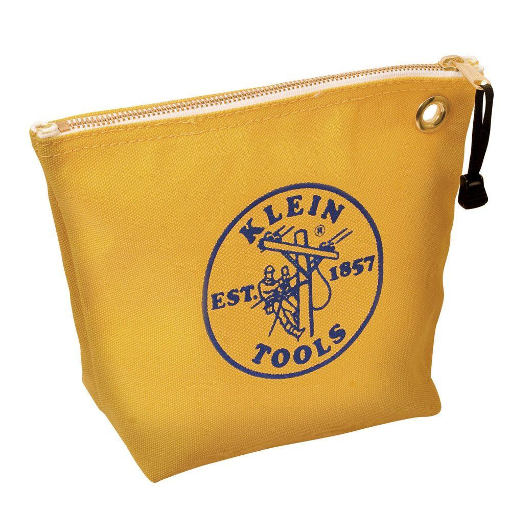 10 in. Consumables Yellow Canvas Zipper Bag