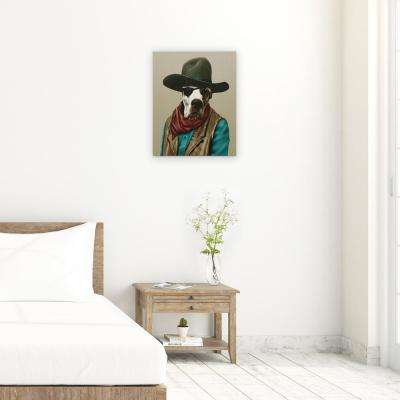 "20 in. x 16 in. Pets Rock ""Cowboy"" Graphic Art on Wrapped Canvas Wall Art"