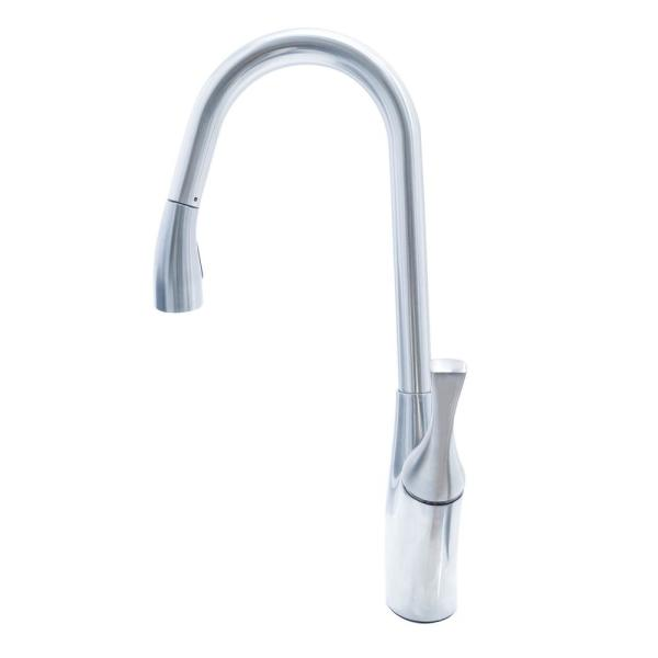 Delaware Single-Handle Pull-Out Sprayer Kitchen Faucet in Nickel