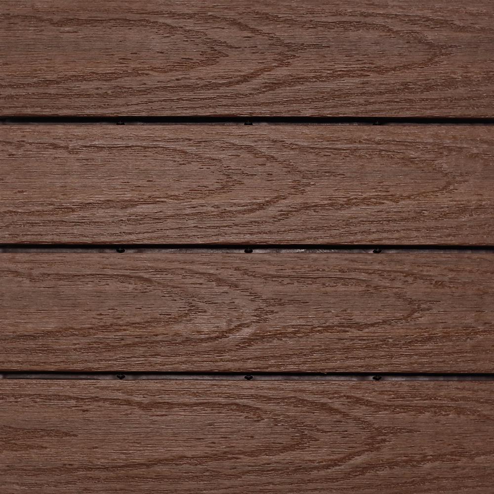 UltraShield Naturale 1 ft. x 1 ft. Quick Deck Outdoor Composite Deck Tile in California Redwood (10 sq. ft. per box)