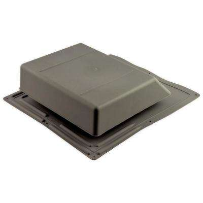 61 sq. in. NFA Plastic Slant-Back Roof Louver Static Vent in Weatherwood (Sold in Carton of 6 only)