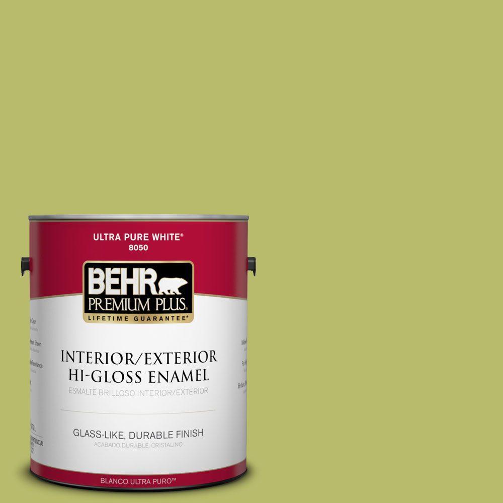BEHR Premium Plus 1-gal. #P360-5 Citrus Peel Hi-Gloss Enamel Interior/Exterior Paint